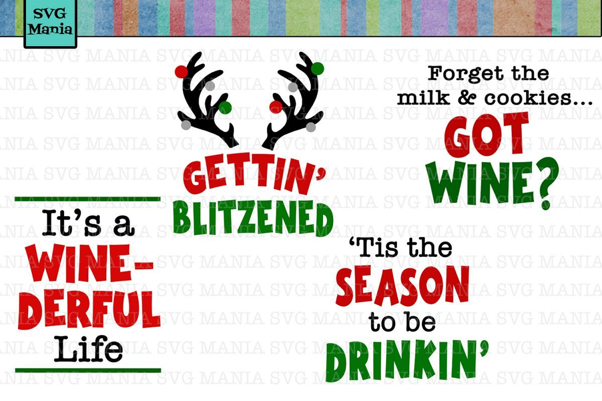 Funny Christmas Wine Glass Svg Bundle Wine Glass Decal Svg Affiliate Christmas Quotes Funny Christmas Wine Christmas Wine Glasses