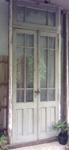 Puertas cristal y madera antigua google search deco for Puertas interiores antiguas madera