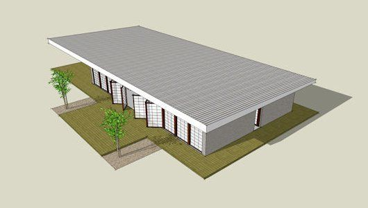 Modern flat roof 530x300 house plans pinterest flat for Modern flat roof house plans