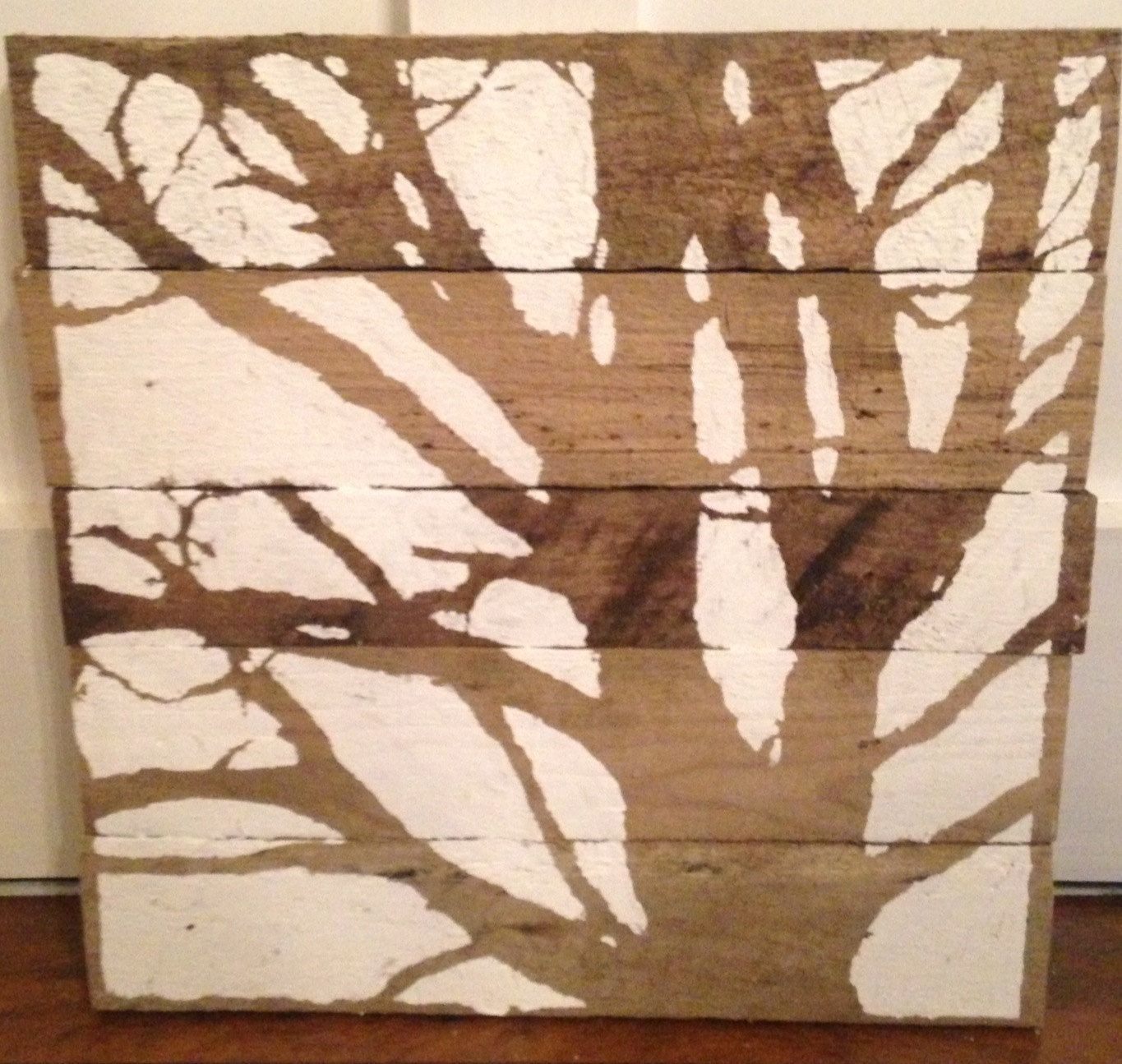 White and wood contrast tree by naturerefined on etsy art