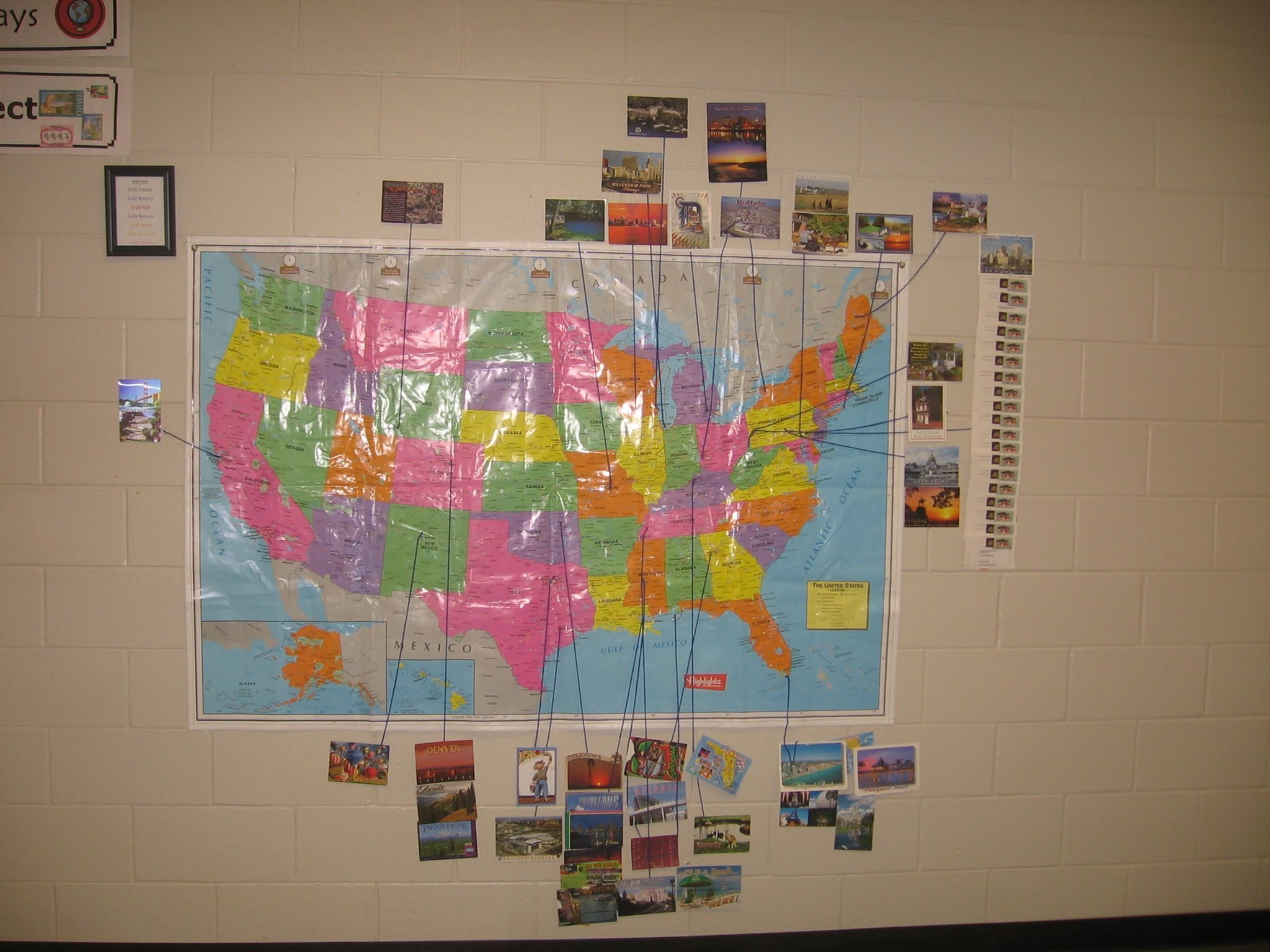 how to display postcards