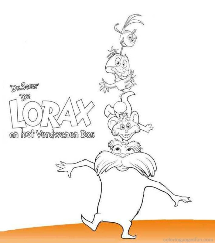 Dr Seuss The Lorax Coloring Pages 1 Girls Camp Pinterest