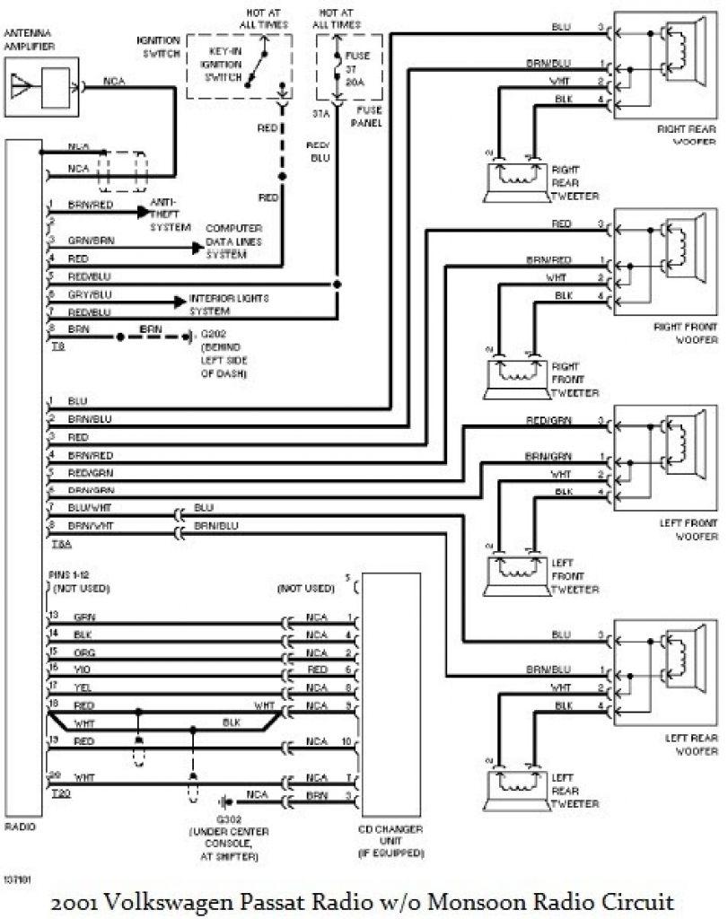 vw passat radio wiring diagram | passat b5, vw passat, ford  pinterest