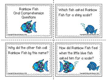 The rainbow fish story sequencing re telling visuals for Fish philosophy book