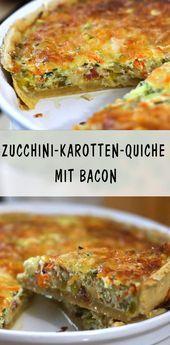 Herzhafte ZucchiniKarottenQuiche mit Bacon