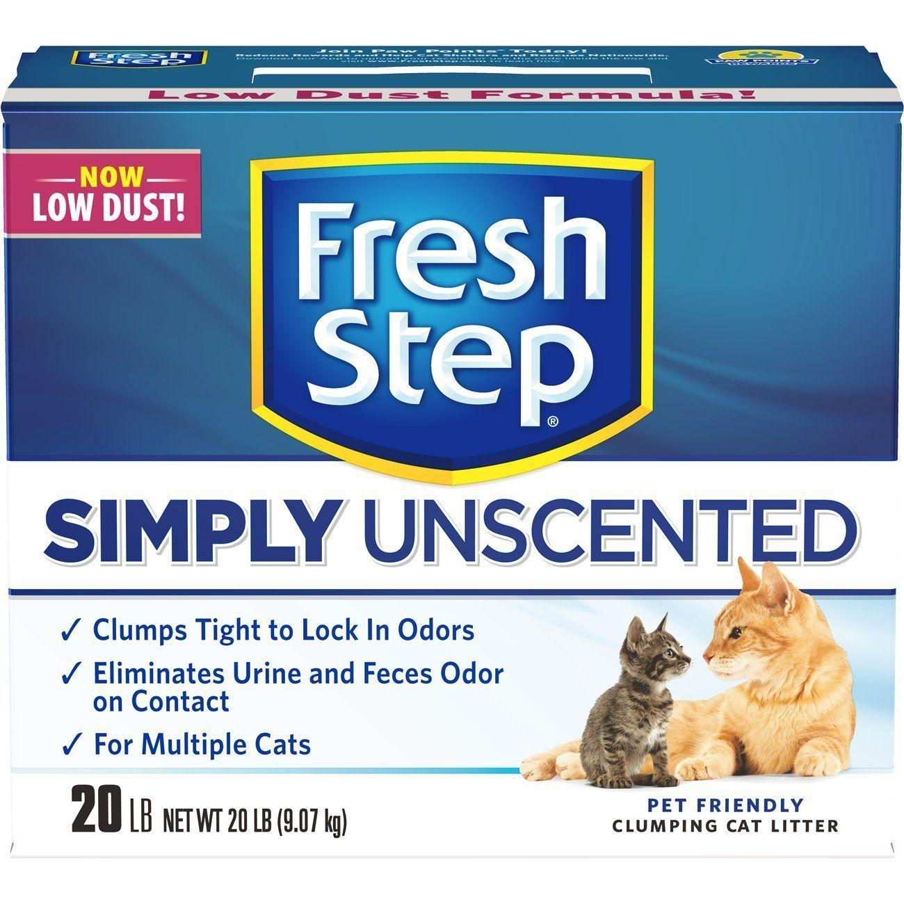 Fresh Step MultiCat, Clumping Cat Litter, Unscented, 20