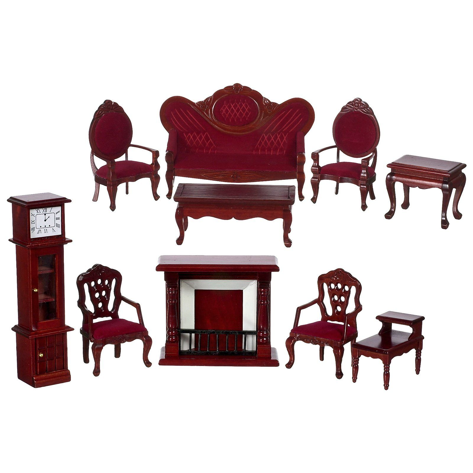 VICTORIAN LIVING ROOM DOLLHOUSE FURNITURE MINIATURES