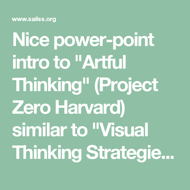 Final Report  Artful Thinking