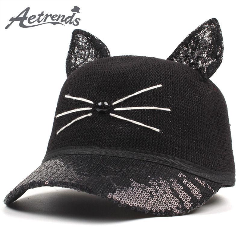 e587113d8e3 Spring Summer Cartoon Cat Eye Baseball Cap Men Women Snapbacks Lovely Hats Z -6412