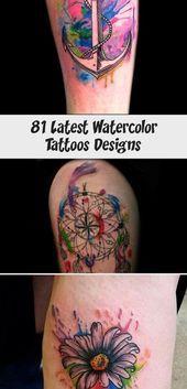 Photo of 81 Latest Watercolor Tattoos Designs – Tattoo İdeas  watercolor tattoos men #Da…