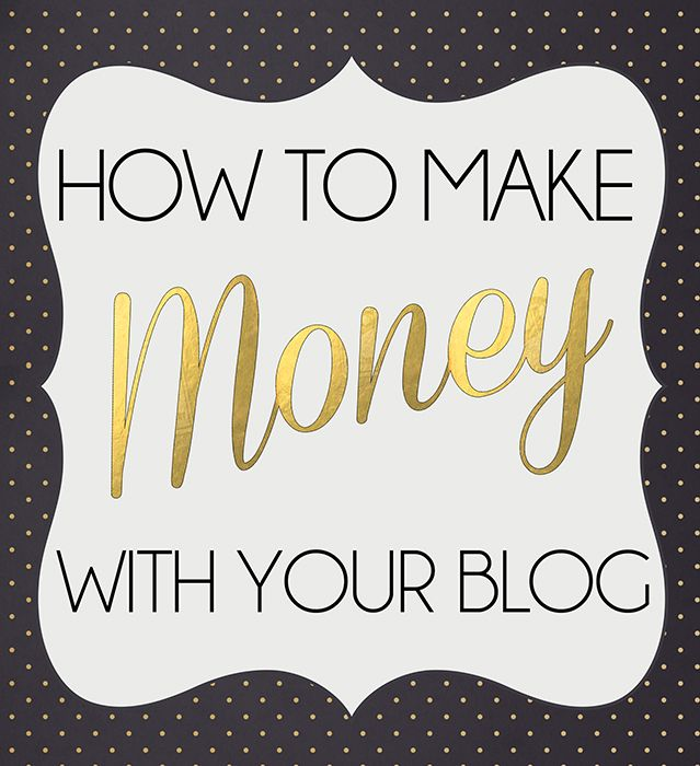 For today's post I wanted to start going over something that's very important for just about every blogger out there, and that is how to start making money with your blog. This post is just going t...