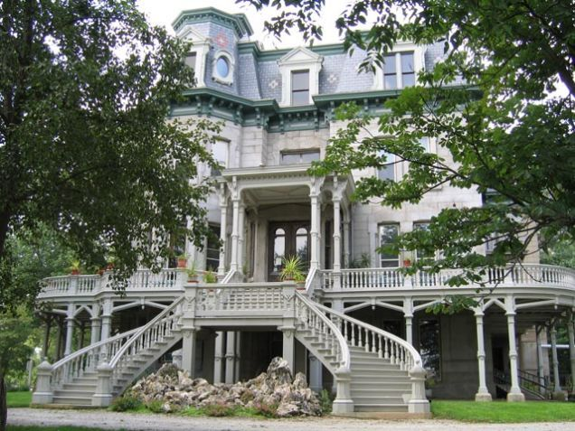 9 of the Most Fascinating Abandoned Mansions from Around the World.  This one is in LaSalle, IL> and is restored.