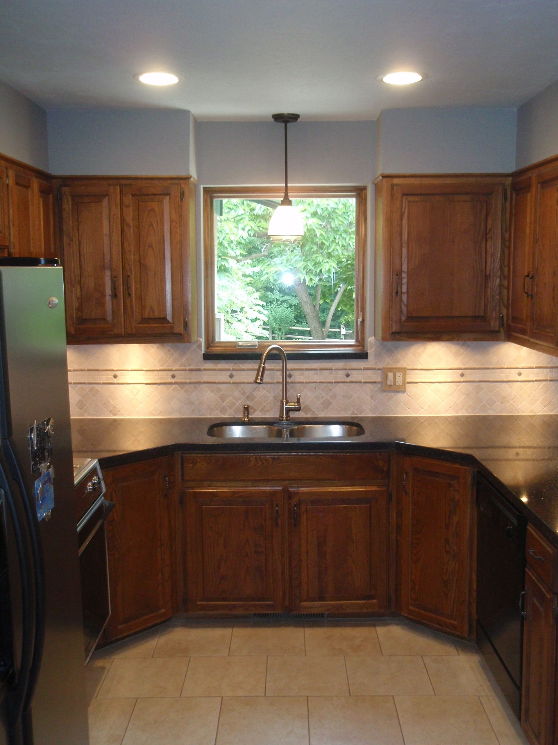kitchen remodel okc narrow cart oklahoma city edmond we removed the 70 s light grid and popcorn texture then installed recessed lights under cabinet