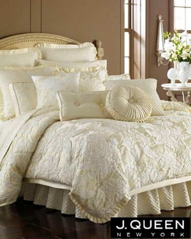 J Queen New York Bedding Duchess Ivory Matching Drapes