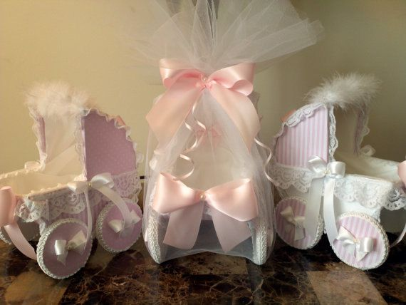 Set Of Three 9 inch Pink And White Gift Box by TheCarriageShoppe, $42.00