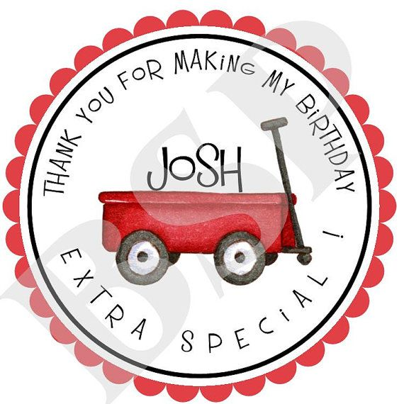 Personalized+Red+Wagon+Birthday+Party+Labels+by+Bluesugarpress,+$5.50