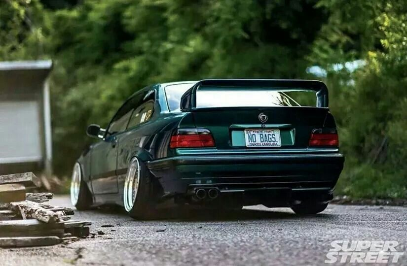 Bmw E36 3 Series Green Slammed No Bags With Images Bmw E36