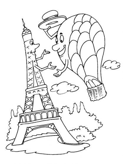 Coloriage Tour Eiffel à colorier - Dessin à imprimer … | SLIKE ZA ...