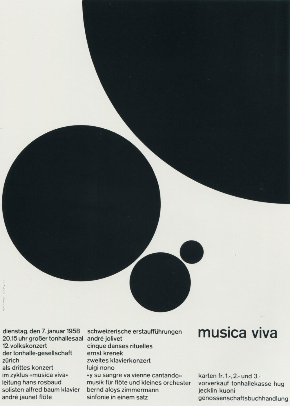 Photo of Joseph Müller-Brockmann – Musica Viva – Zurich Tonhalle Posters