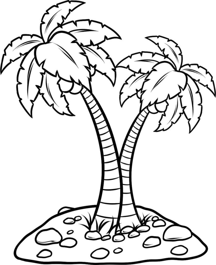 Ausmalbilder Fur Kinder Palmen 11 Malvorlagen Tiere Ausmalbilder Palme Umriss