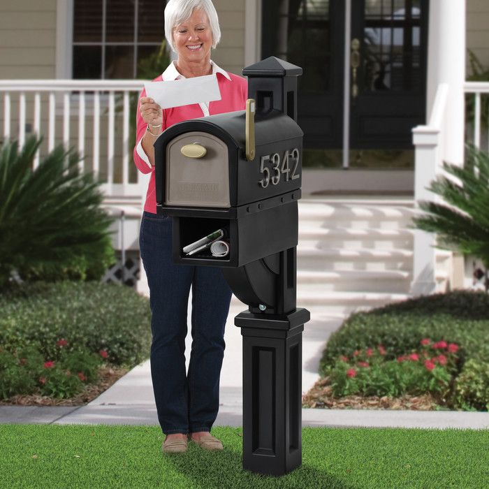 Mailmaster Post Mounted Mailbox Mounted Mailbox Large Mailbox Rural Mailbox