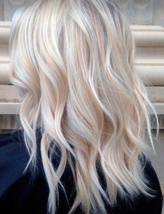 Pastel Peach Highlights Blonde Hair Shades Cool Blonde Hair Platinum Blonde Hair