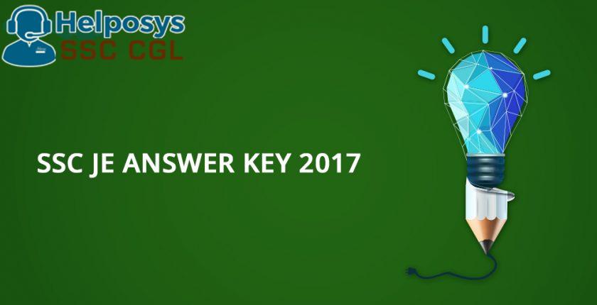 SSC JE Answer Key 2017 PDF (Civil, Electrical & Mechanical