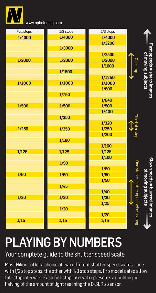 Nikon D40 Shutter Speed Chart - Nikon d40 d40x for dummies
