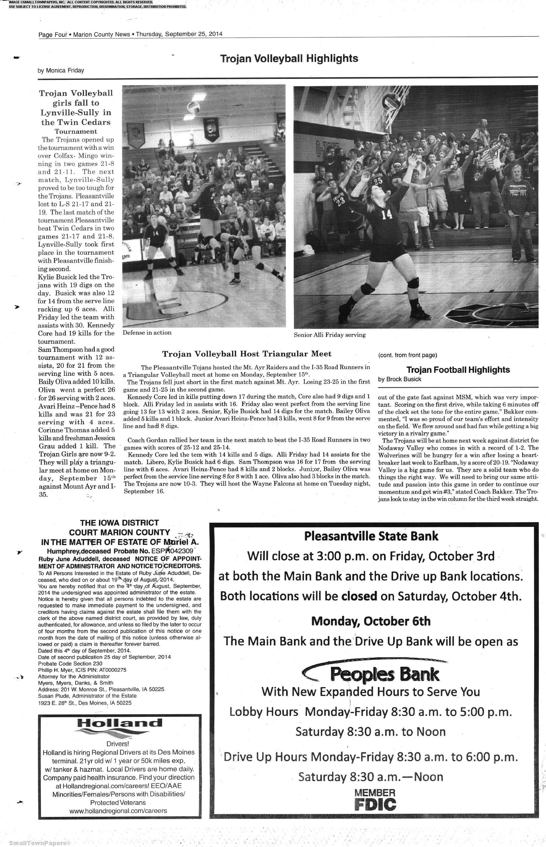 Marion County News September 25 Page 4 Marion County