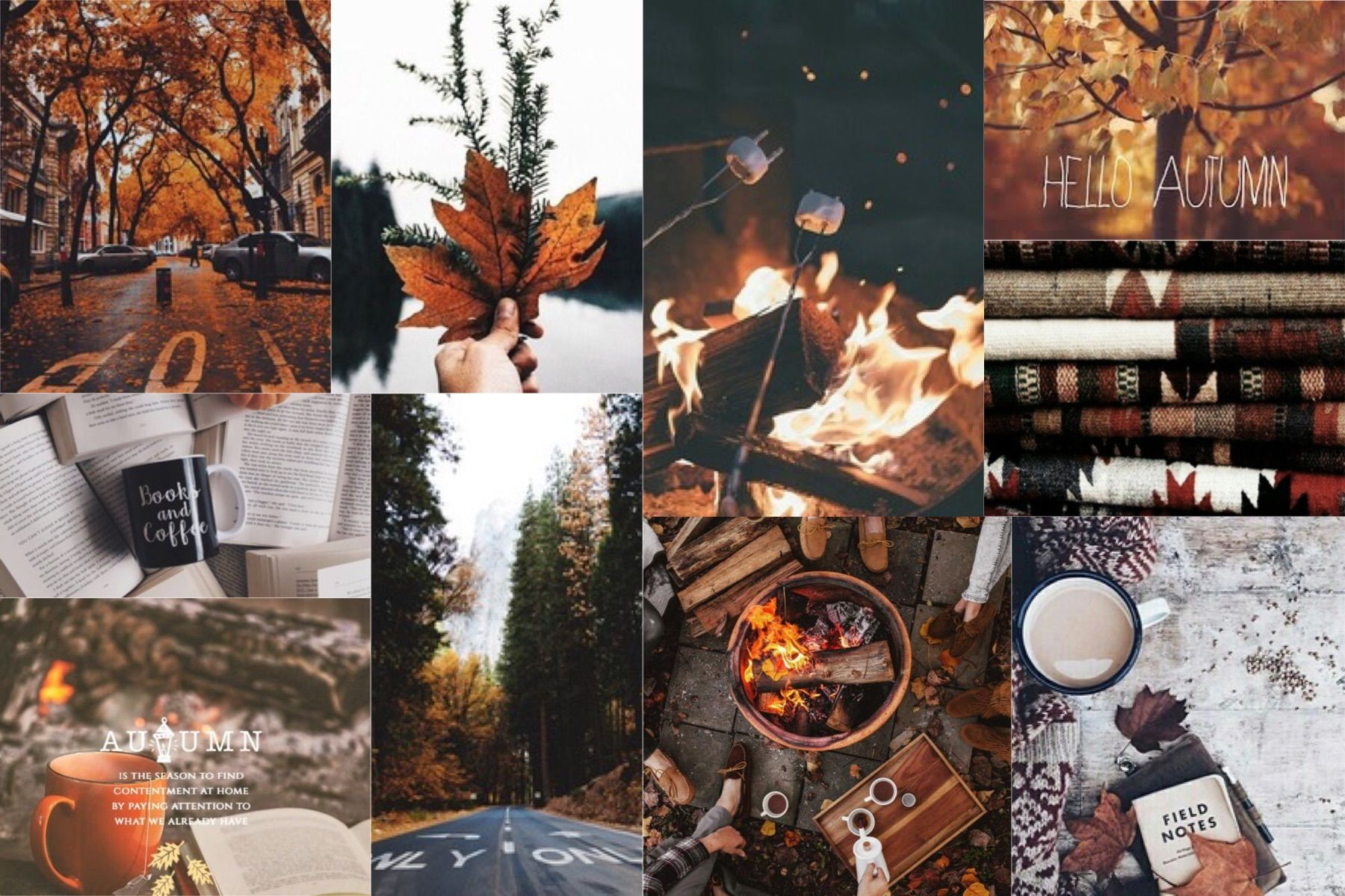 Winter Collage Wallpaper Laptop