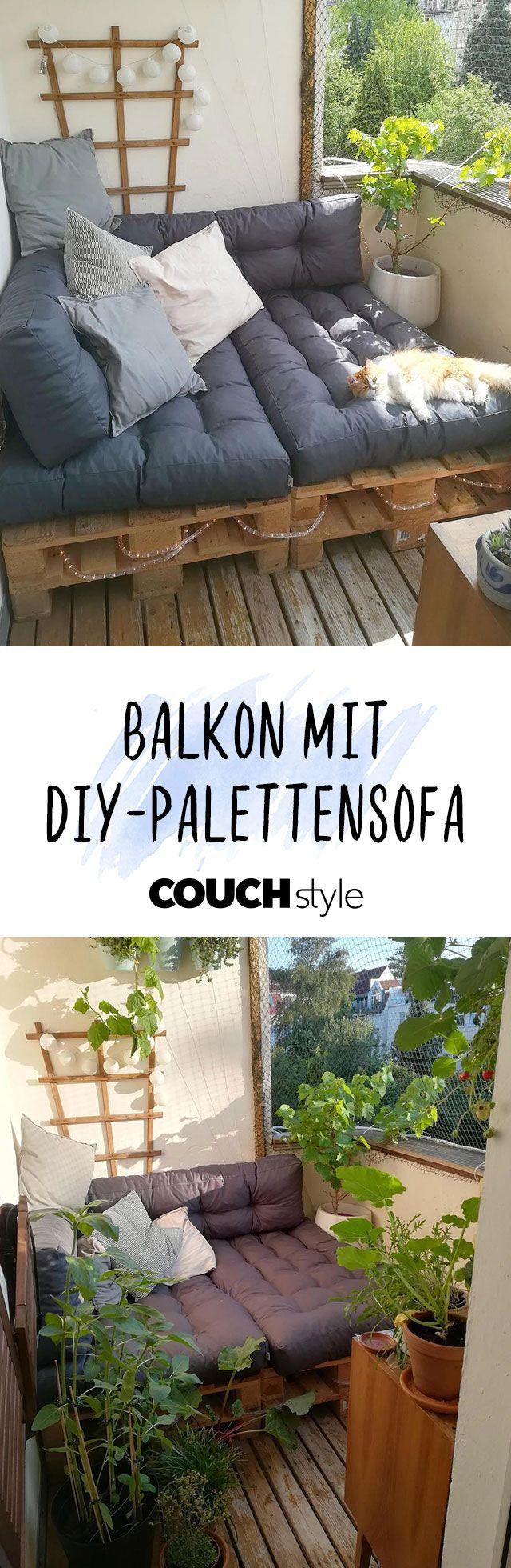 #palettensofa #palettenmöbel #balkon #balkonien #bal... #smallbalconyfurniture