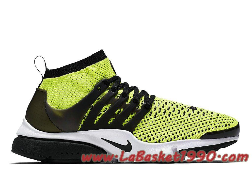 Nike Air Presto Ultra Flyknit 835570_701 Chaussures Nike Prix Pas Cher Pour  Homme Vert Noir-Achetez en ligne les articles signés Nike.