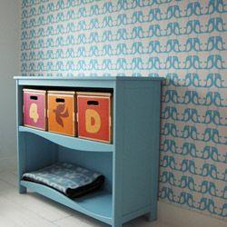 papier peint p pin bleu petit pan papier peint et peindre. Black Bedroom Furniture Sets. Home Design Ideas