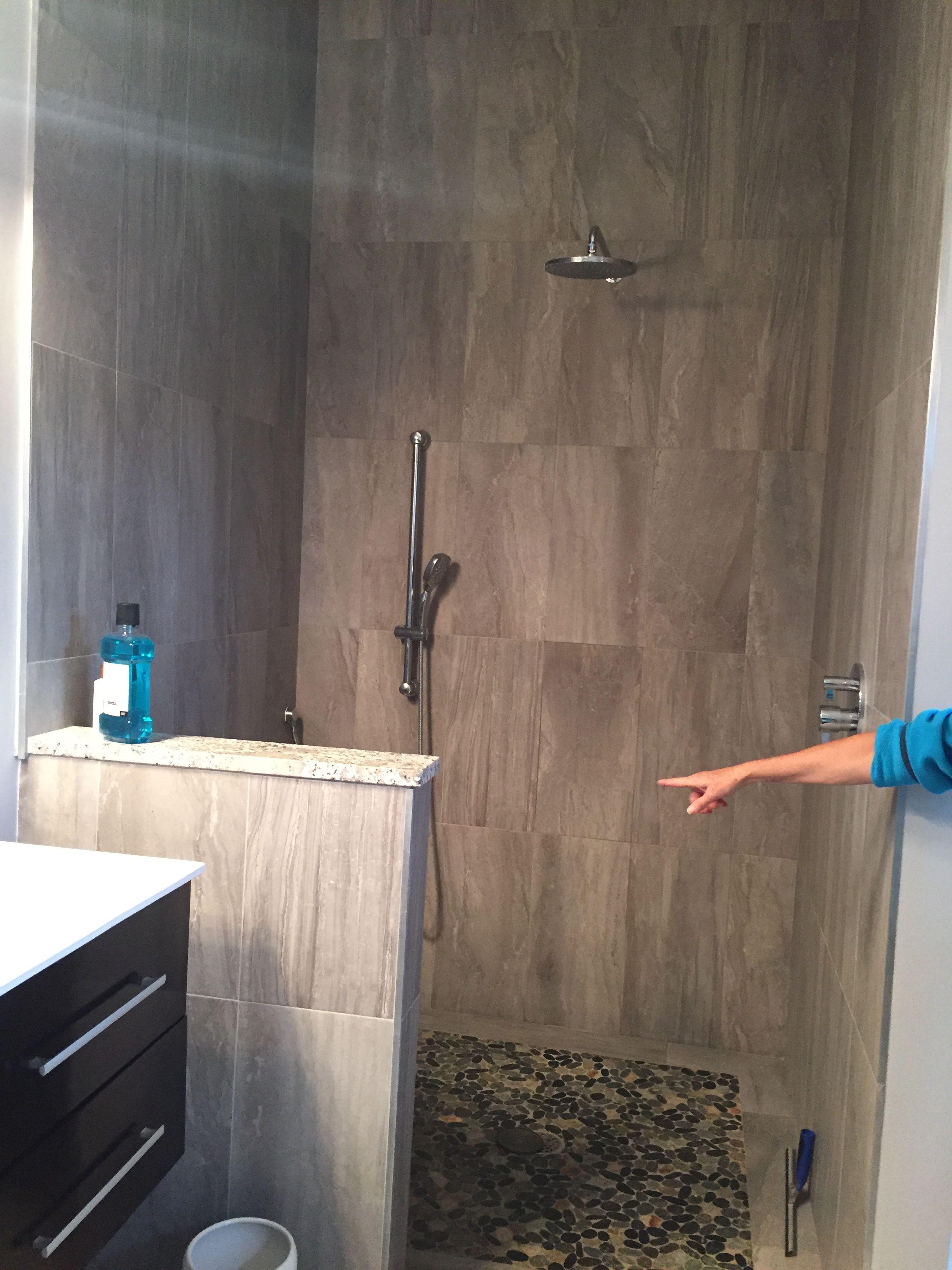 Master Shower No Glass 1 2 Wall Master Shower Shower Glass