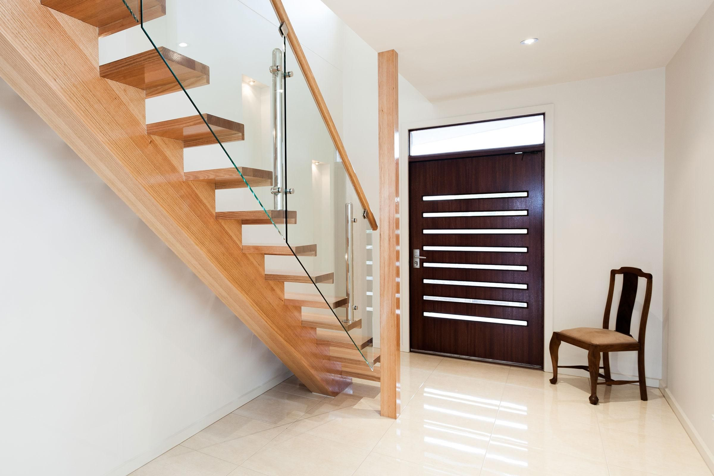 Just Stairs Timber Stair Timber Staircase House Staircase | Wood Mono Stringer Stairs | Central | Arch | Hardwood | Glass | Timber