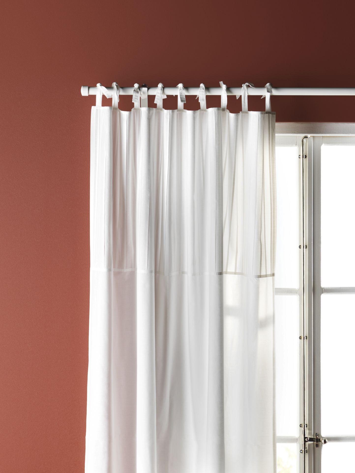 PÄRLBLAD Gordijnen, 1 paar, wit | Pinterest - Catalogus en Ikea