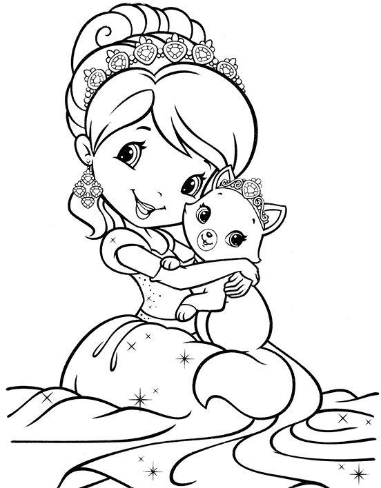 Раскраска из мультфильма Ягодный пирог | Раскраски дисней ...