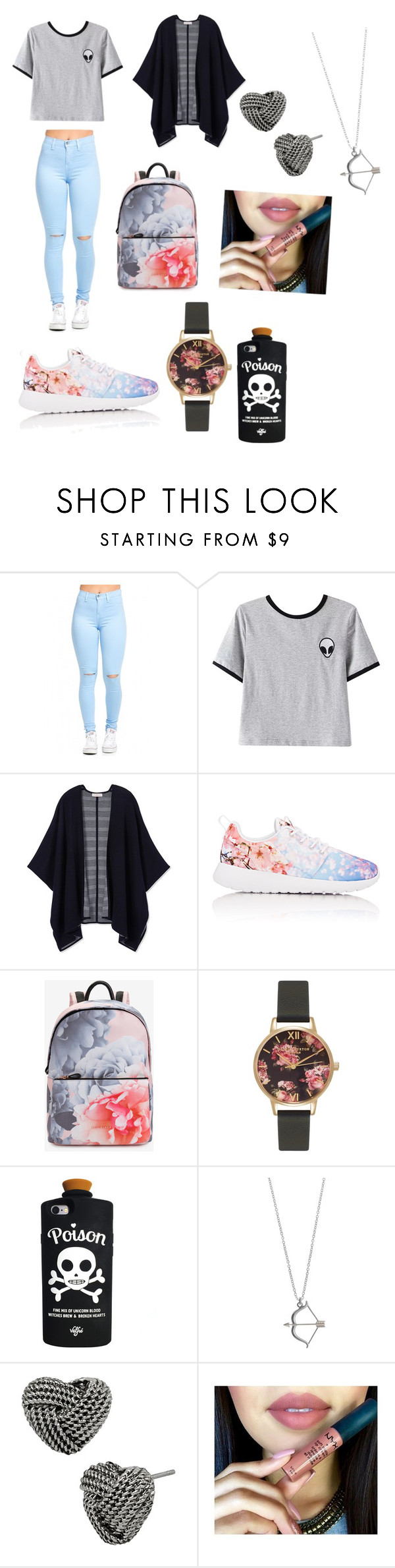 """""""just ma flaws"""" by magconloma on Polyvore featuring Chicnova Fashion, Tory Burch, NIKE, Ted Baker, Olivia Burton, Valfré and Betsey Johnson"""