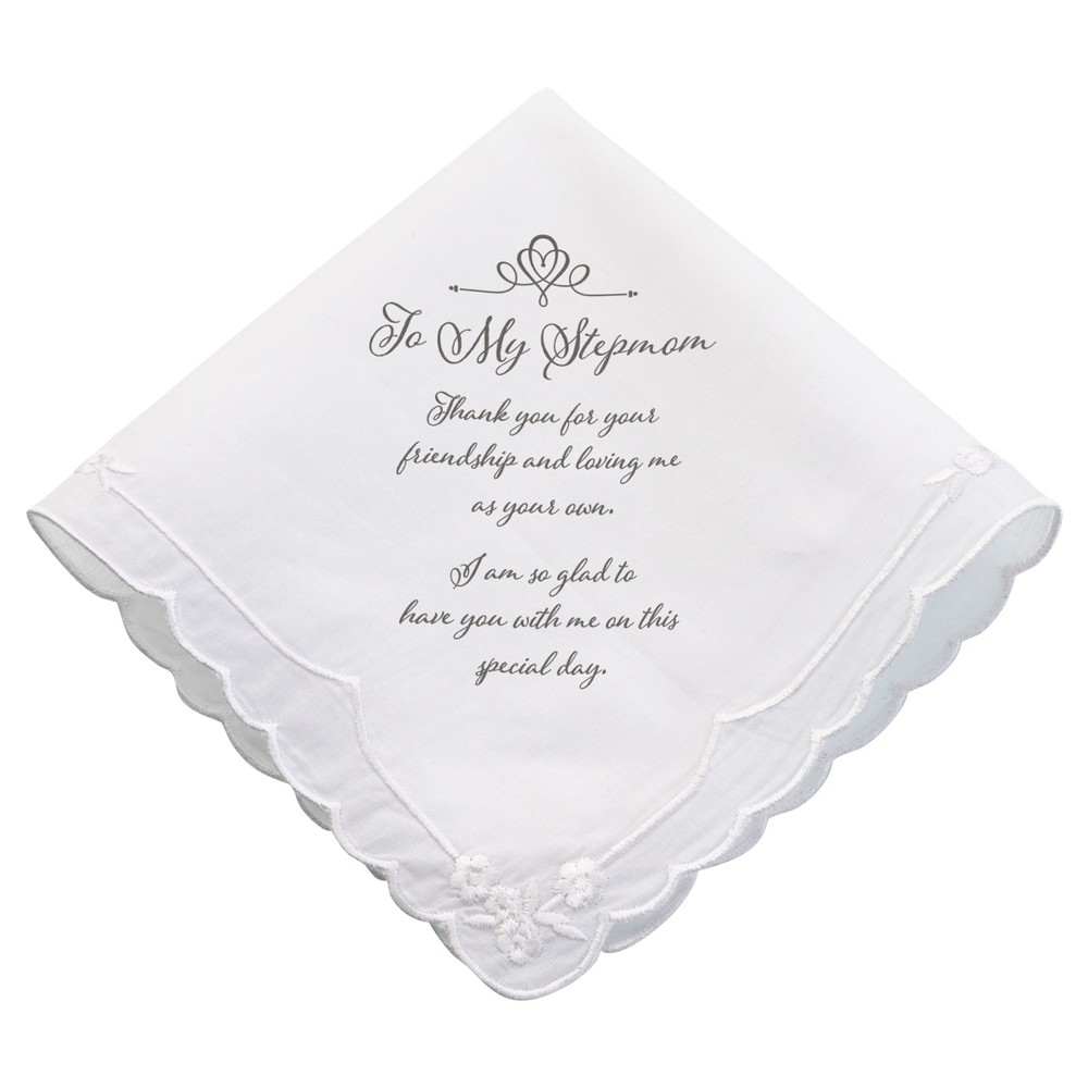 White \'To My Stepmom\' Wedding Favor Hankie | Favors, Weddings and ...
