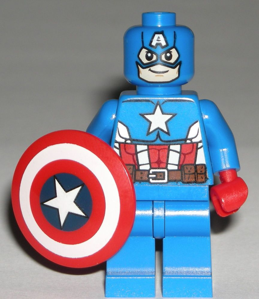 Lego captain america minifigure with shield 76017 lego 100 39 s of cool lego - Lego capitaine america ...