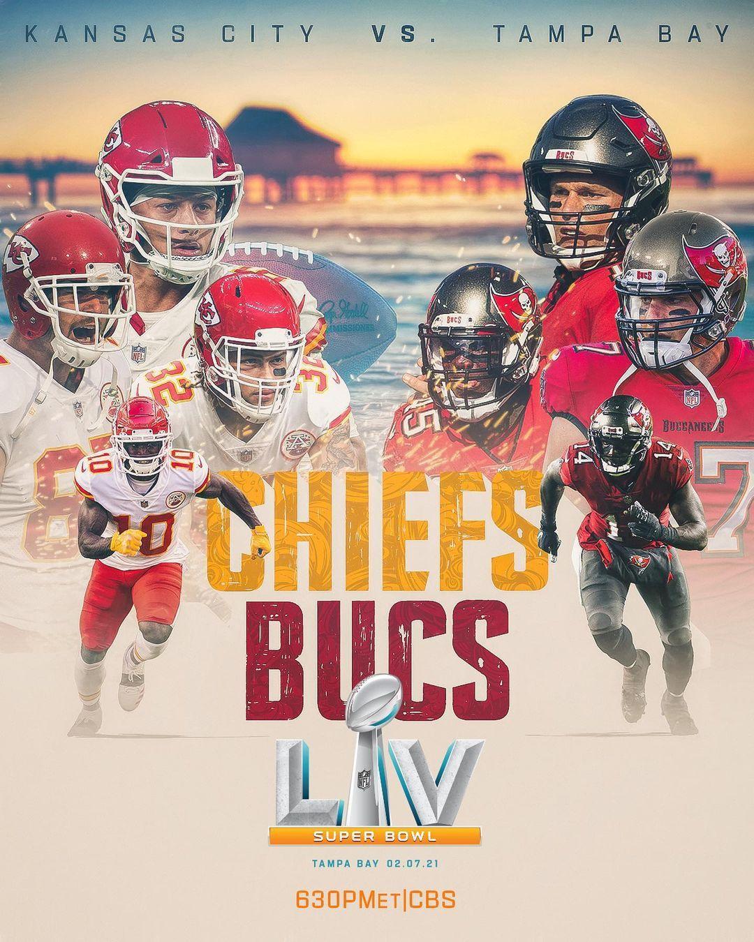 Nfl On Instagram Chiefs Buccaneers Super Bowl Lv Is Set Sblv In 2021 Super Bowl Buccaneers Football Nfl Season