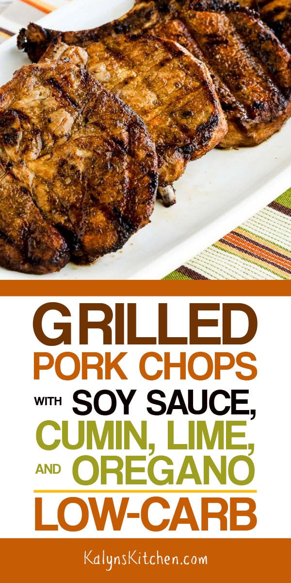 Grilled Pork Chops with Soy Sauce, Cumin, Lime, and Oregano #grilledporkchops