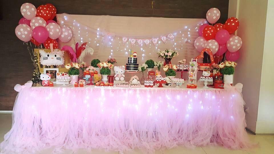 Olha que linda esta Festa Hello Kitty . Decoração Loren Festa. Lindas ideias e muita inspiração! Bjs, Fabiola Teles.        Mais ideias lindas: Decora&...