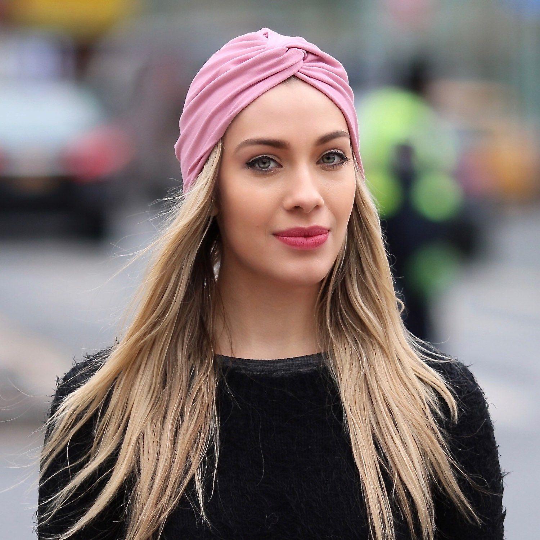 b015dcc34 Women's Turban Hat Pink Blush Turban Spring Fashion 1940s Hat Head ...