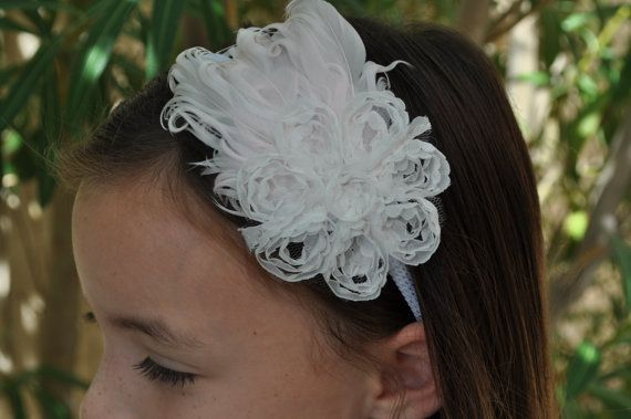Swan  Feather & Ribbon Headband by toolittlemonsters on Etsy, $12.00