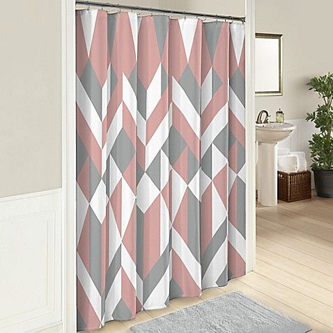 Lena 72 Inch Cotton Shower Curtain In Pink
