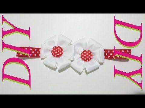 Como Hacer Lazos DIY #9   Conjunto Pies Descalzos y Lazo para bebes - YouTube