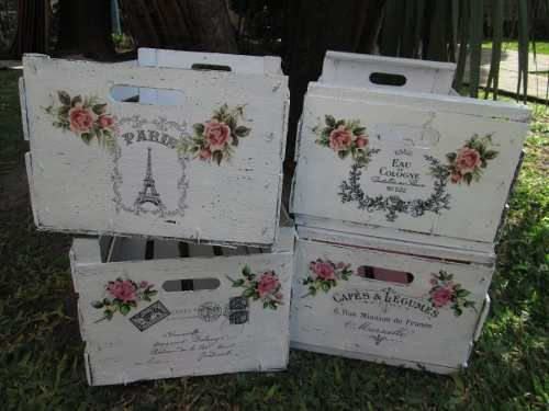 Cajones cajas shabby chic decoracion vintage caixes - Decoracion shabby chic vintage ...