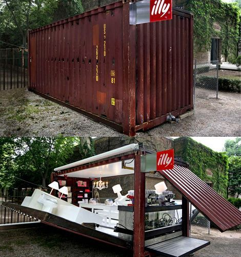 Awesome Pop Up Cafe Made Of A Shipping Container
