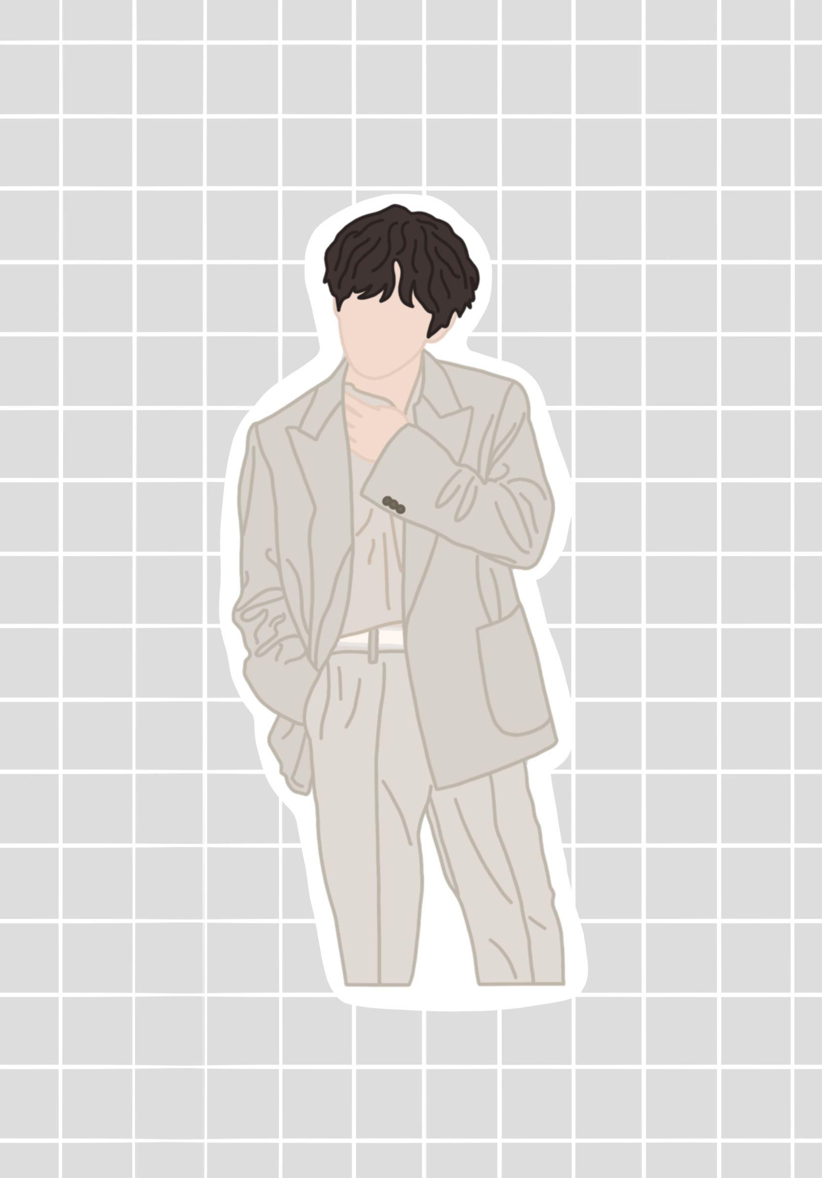 Bts V Kim Taehyung Vinyl Sticker In 2020